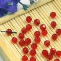 Beads, Selenial Crystal, Crystal, Burgandy , Faceted Rounds, Diameter 4mm, 10 Beads, [ZZC208]